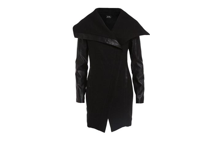 """Coat, $170, Bardot, <a href=""""http://bardot.com.au"""">bardot.com.au</a>"""