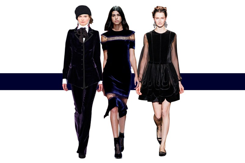 Looks from: Christopher Kane, Ralph Lauren and Alberta Ferretti.