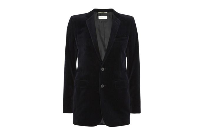 """Blazer, $3,280, Saint Laurent Paris, <a href=""""http://www.net-a-porter.com"""">net-a-porter.com</a>"""
