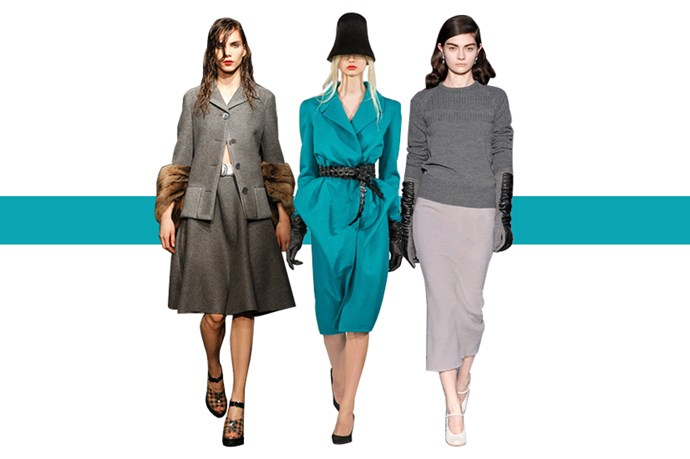 As the mercury drops, turn up the heat with new-season hats, beanies, gloves and scarves. Keep your mitts warm with a pair of Chanel tweed and leather gloves or a butter-soft pair from Bally. Felt hats get the sartorial nod for winter; try a blush-pink Emporio Armani bowler or team a Stella McCartney grey-marl hat with cable knits, trench coats and wellies to get street-style bulbs flashing.