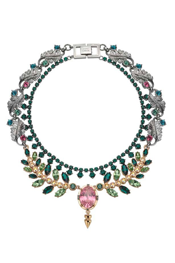 "Necklace, $899, Mawi, <a href=""http://www.oscarandwild.com"">oscarandwild.com</a>"