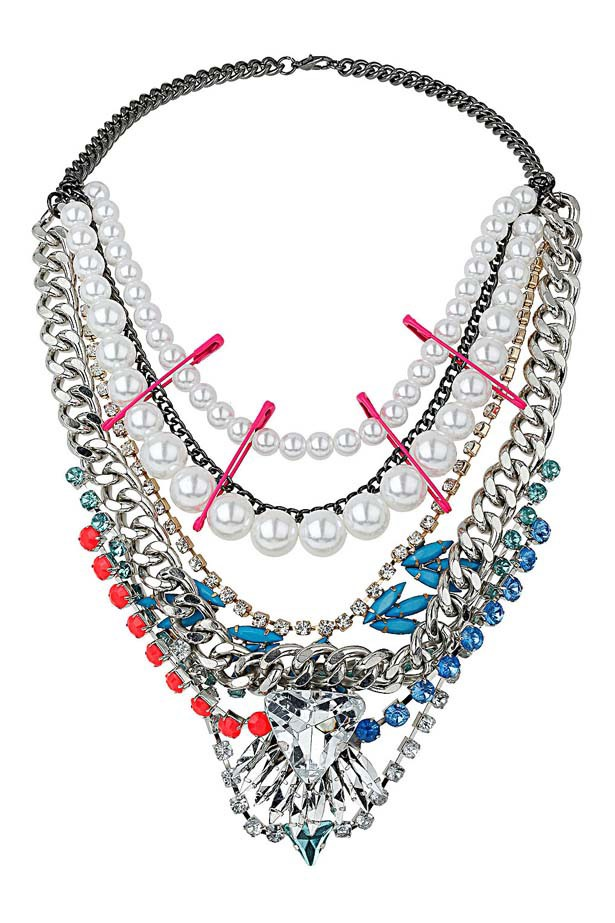 "Necklace, $74, Topshop, <a href=""http://www.topshop.com"">topshop.com</a>"