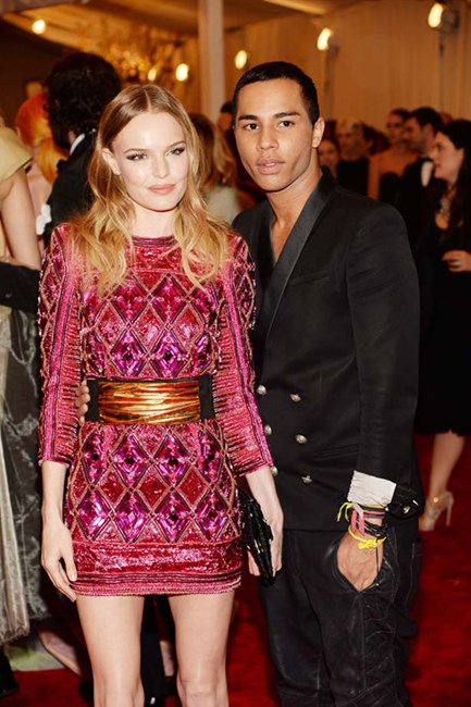 Balmain's Olivier Rousteing and Kate Bosworth
