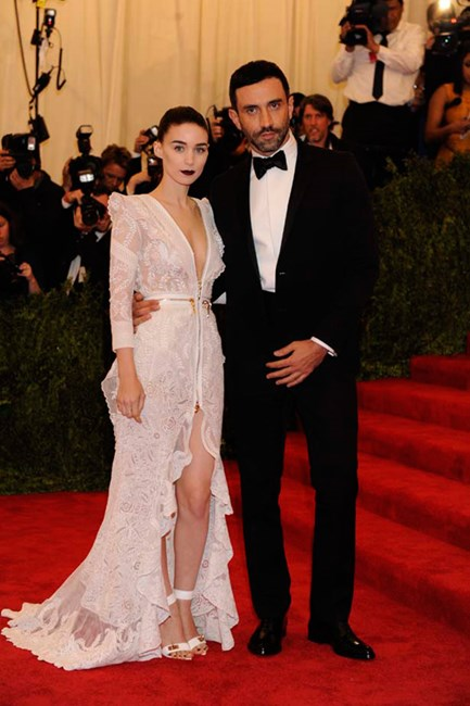 Givenchy's Riccardo Tisci and Rooney Mara
