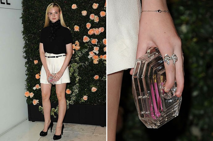 Elle Fanning's decadent Chanel clutch proves it's just as much a luxury trend as it is high street. Whether you invest or save your pennies, it's a trend for everyone.