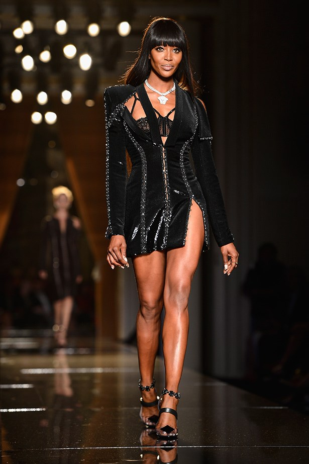 Naomi Campbell walking the runway for Atelier Versace