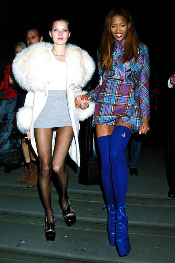 Naomi Campbell and Kate Moss, London, 1991.
