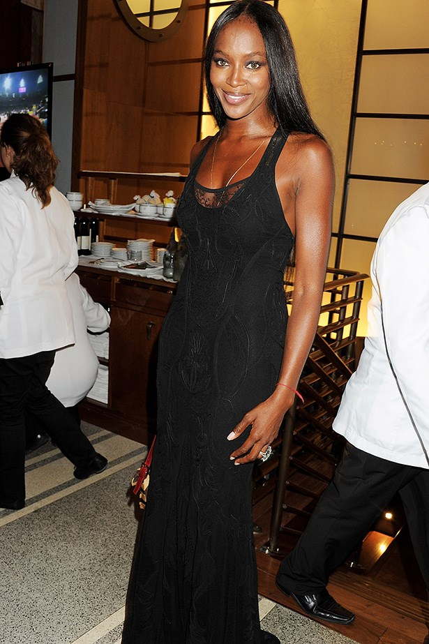Naomi Campbell at an Olympic Games celebration dinner, London, 2012.