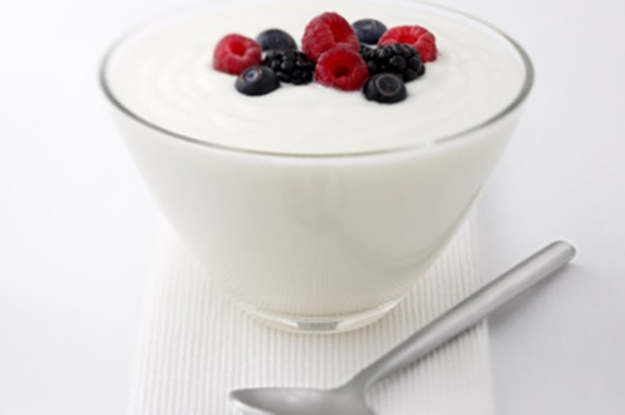 Dairy<br>Research suggests calcium is directly related to melatonin production. In fact, calcium levels are highest in the body when we're experiencing our deepest sleep – REM. Get a fix with low-fat yoghurt, cheese and milk. (For a dairy sensitivity, leafy greens are a good alternative.)