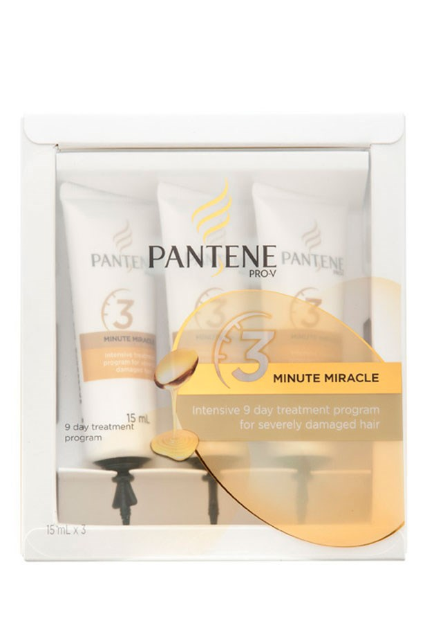 <strong>BEST BUY</strong>: Restore moisture to dry and damaged hair in record time with this super-affordable buy. <em>3 Minute Miracle, $7.99, Pantene Pro-V, pantene.com.au</em>