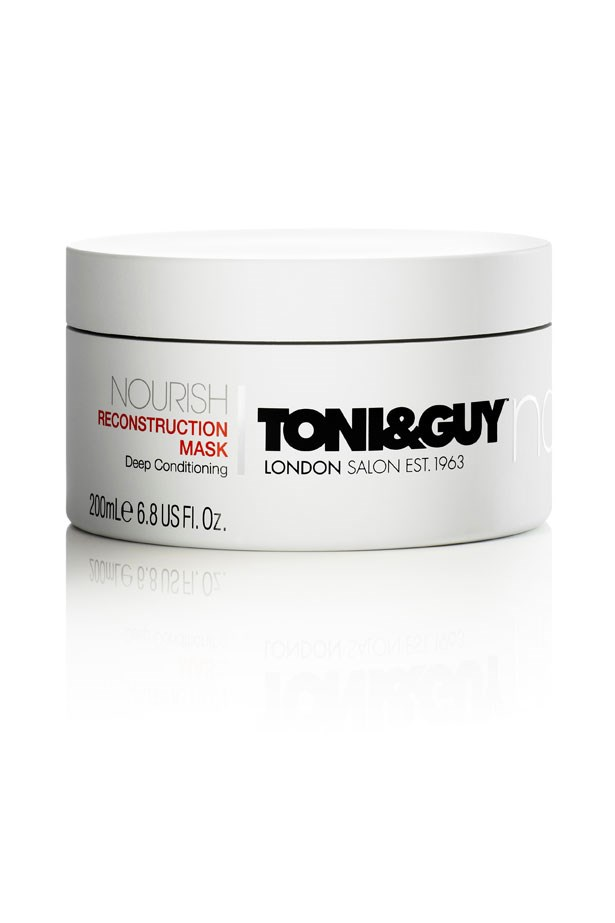 <strong>WEEKLY WONDER</strong>: Use once a week for a major shine boost. <em>Nourish Reconstruction Mask, $15.99, Toni & Guy, hairmeetwardrobe.com.au</em>