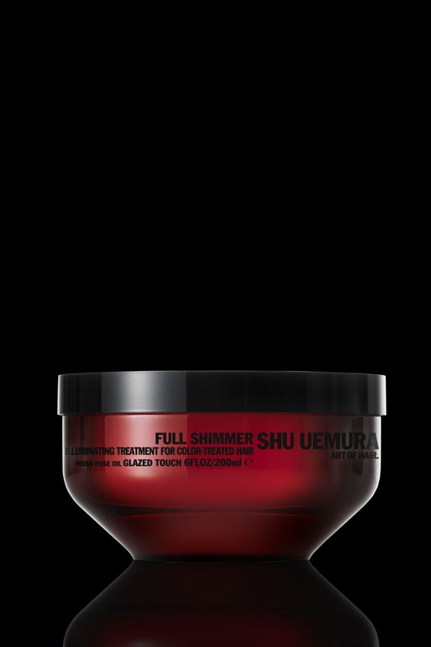 <strong>ULTIMATE INDULGENCE</strong>: Keep colour vibrant with this rose oil-enriched ultra-thick formula. <em>Full Shimmer Illuminating Treatment Masque, $66, Shu Uemura Art of Hair, 1300 651 141</em>