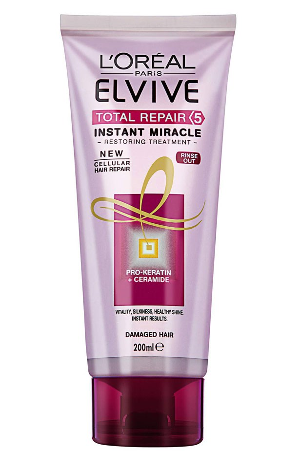 <strong>PHARMACY FAVOURITE</strong>: Give this treatment 60 seconds and it will reward you with smooth, shiny locks. <em>Elvive Total Repair 5 Instant Miracle Restoring Masque, $7.95, L'Oréal Paris, lorealparis.com.au </em>