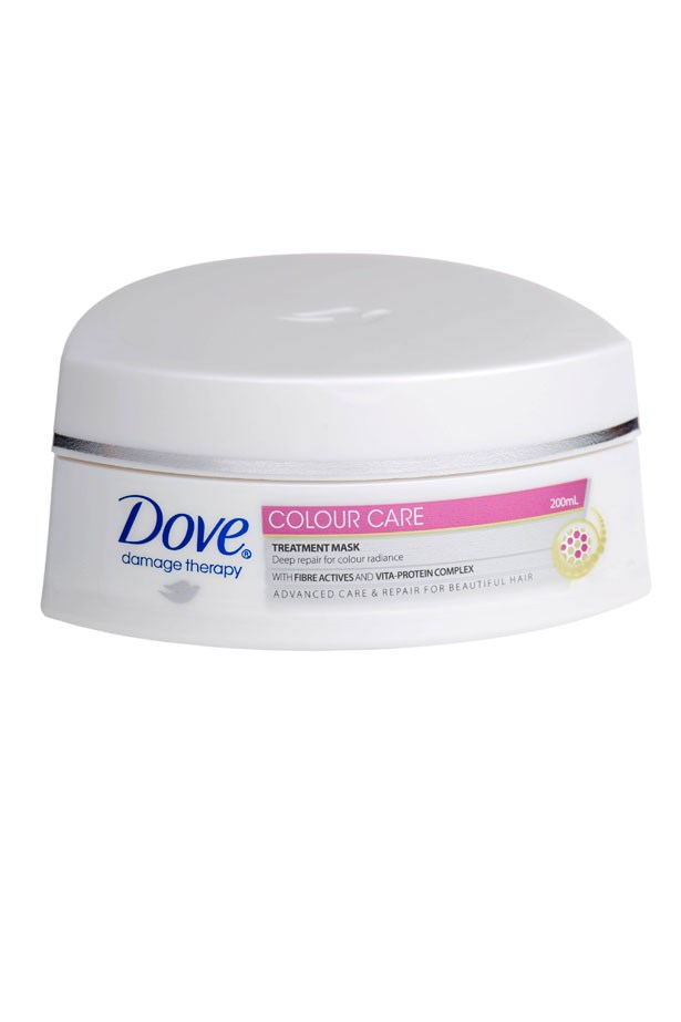 <strong>HEAT THERAPY:</strong> A multi-vitamin complex strengthens strands to resist damage from high heat styling temperatures. <em>Damage Therapy Intensive Repair Treatment Mask, $8.79, Dove, mydove.com.au</em>