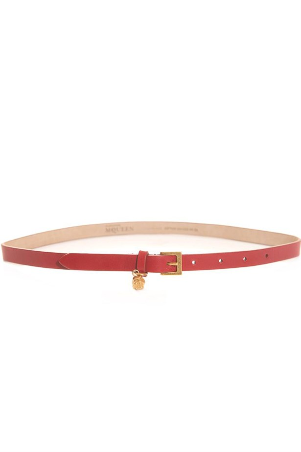"Belt, $380, Alexander McQueen, <a href=""http://www.matchesfashion.com"">matchesfashion.com </a>"