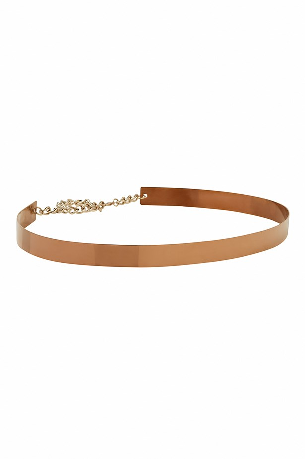 Belt, $50, Kookai, (03) 9804 7906