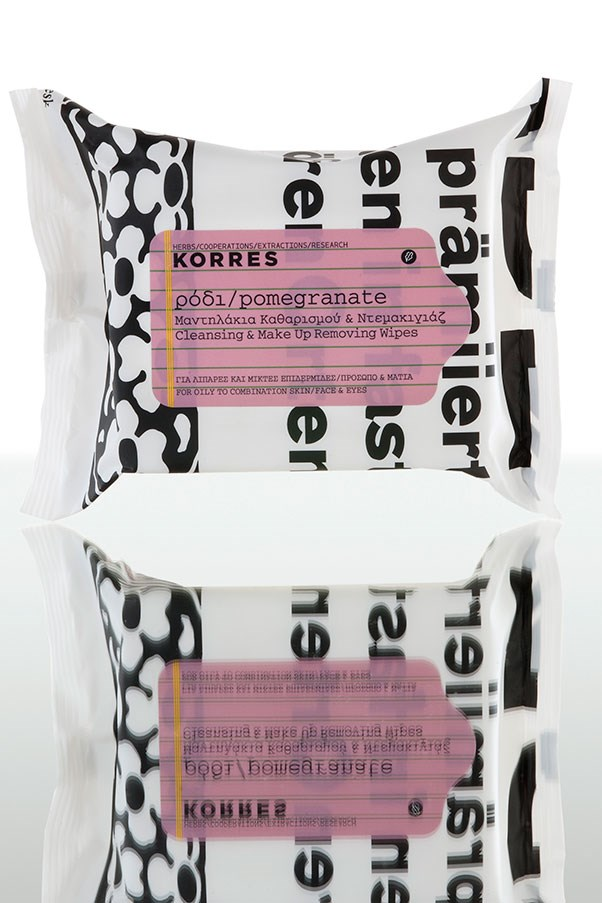 <strong>Vegetables = pack of makeup wipes</strong><br> Vegies are renowned for their cleansing properties, so it's no surprise that one serve should resemble the size of a pack of makeup removing wipes, such as this antioxidant-rich pomegranate variety from Korres. <em>Pomegranate Cleansing Wipes, $18.95, Korres, kitcosmetics.com.au</em>