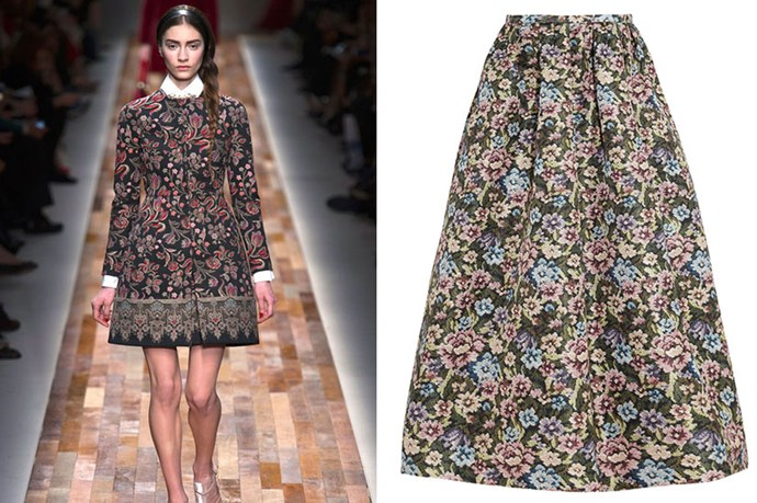 "Skirt, $1,130, RED Valentino, <a href=""http://net-a-porter.com"">net-a-porter.com</a>"