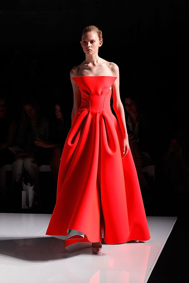 <b>The show: Maticevski</b><br> The look: Minimalistic red carpet-ready looks <br> Top pick: The tangerine strapless ballgown reigned supreme.  A juxtaposition of loud pop colour with raw undone edges offered the perfect balance of sophistication and edge.