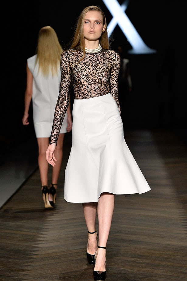 <b>Show: Camilla and Marc</b><br> The look: Retrospective with a modern twist <br> Top pick: Celebrating 10 years in the Australian fashion industry, design siblings Camilla Freeman-Topper and Marc Freeman dipped into their archives and catapulted their past designs into 2013. This sheer lace top paired with a mid-calf hemline was just so now.