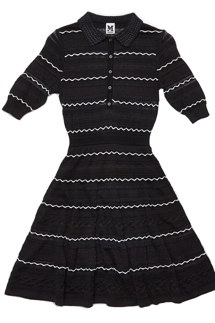 "Dress, $975, M Missoni, <a href=""http://www.www.myer.com.au"">myer.com.au</a>"