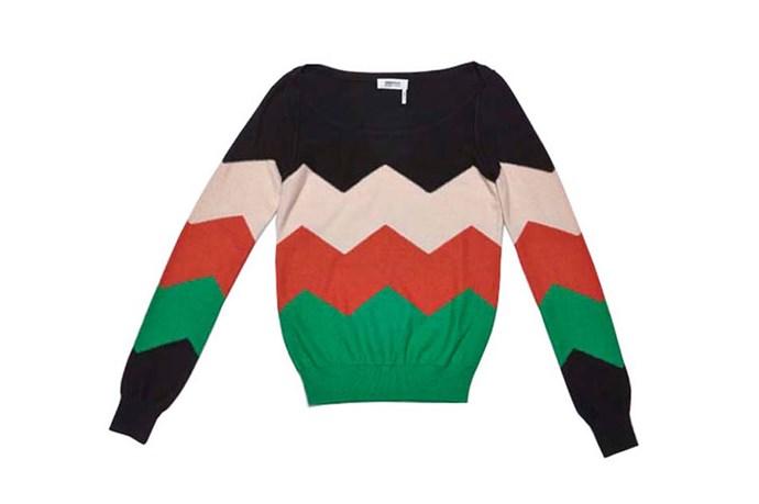 "Sweater, $550, Sonia by Sonia Rykiel, <a href=""http://ww.myer.com.au"">myer.com.au</a>"