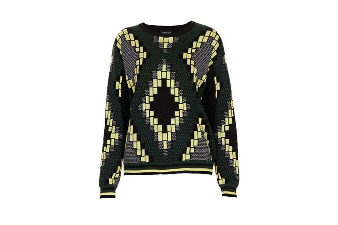 """Sweater, $70, Topshop, <a href=""""http://www.topshop.com"""">topshop.com</a>"""