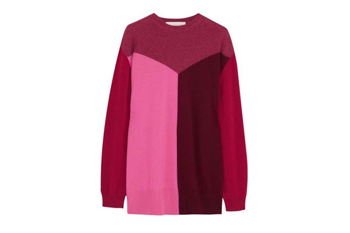 "Sweater, $829, Stella McCartney, <a href=""http://www.net-a-porter.com"">net-a-porter.com</a>"