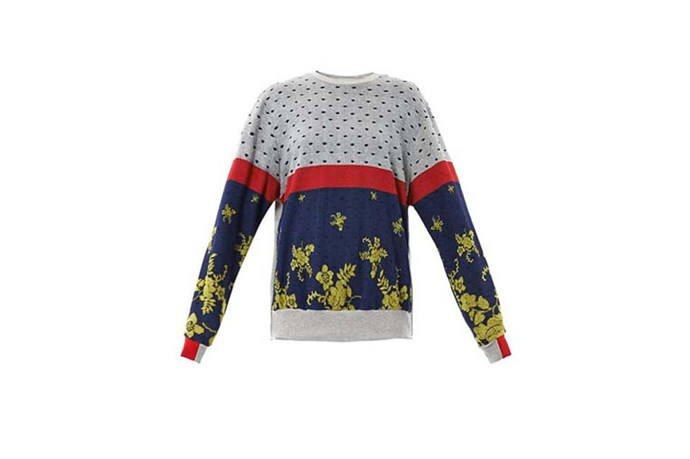 "Sweater, $665, Preen, <a href=""http://www.matchesfashion.com"">matchesfashion.com</a>"