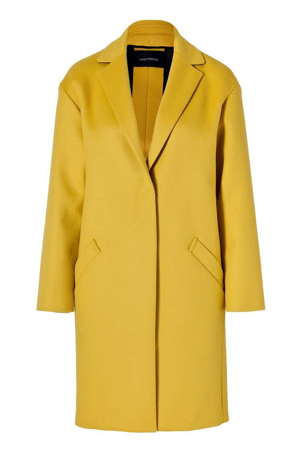 "Coat, $1,370, Cedric Charlier,<a href=""http://www.stylebop.com""> stylebop.com</a>"