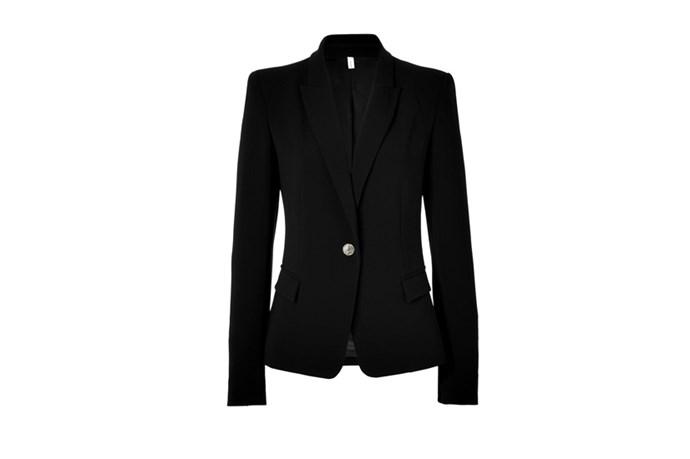 "Blazer, $613, Faith Connextion, <a href=""http://www.stylebop.com"">stylebop.com</a>"