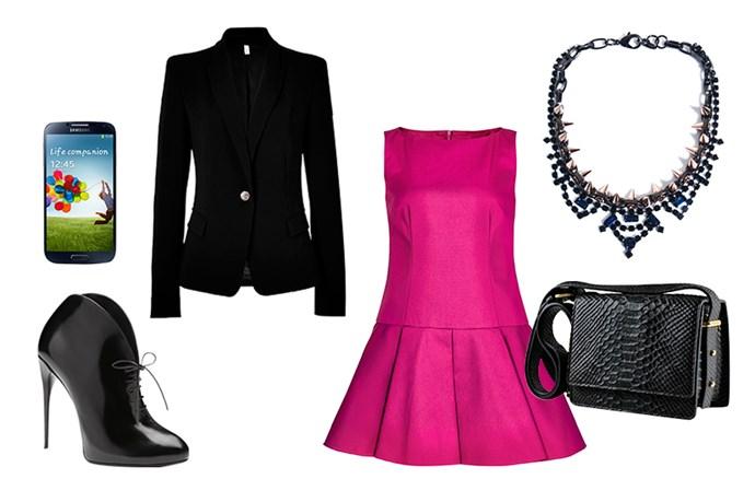 The black blazer: night look
