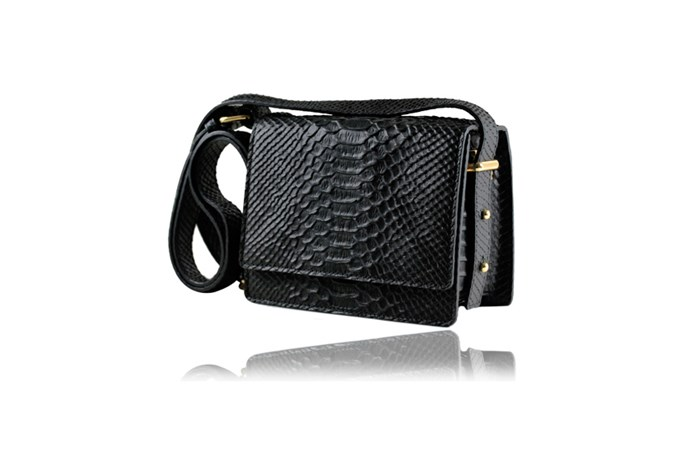 "Bag, $330, Rachael Ruddick, <a href=""http://www.rachaelruddick.com"">rachaelruddick.com</a>"