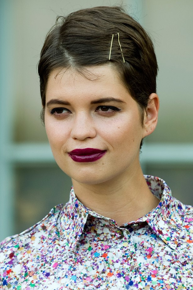 <strong>Dark-side kisses</strong><br> Think: Neve Campbell in <em>The Craft</em> (yes, we went there) or any picture from Drew Barrymore circa 1990-something and opt for a so-now dark lipstick. From deep burgundy to chocolate browns, dare pucker up to this trend. Just leave your lipliner at the door.<br> <em>Celeb: Pixie Geldof</em>