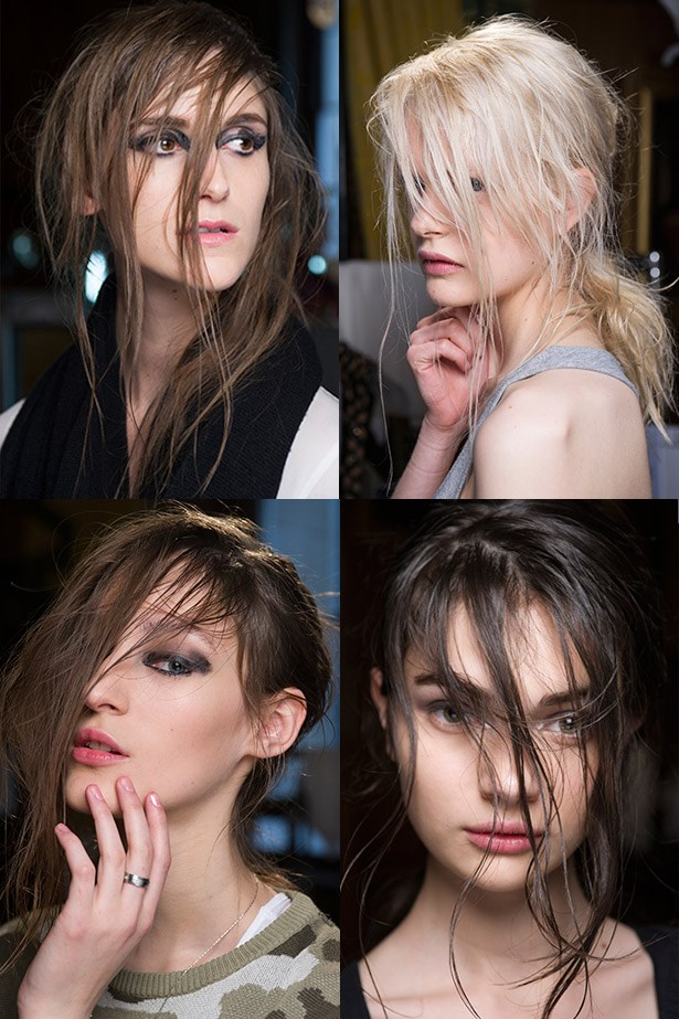 <strong>Come-as-you-are hair</strong><br> Crank up the Nirvana and get head banging to achieve this grungy-glam It-girl hair. <br> <em>Runway: Julien Macdonald AW13-14</em>