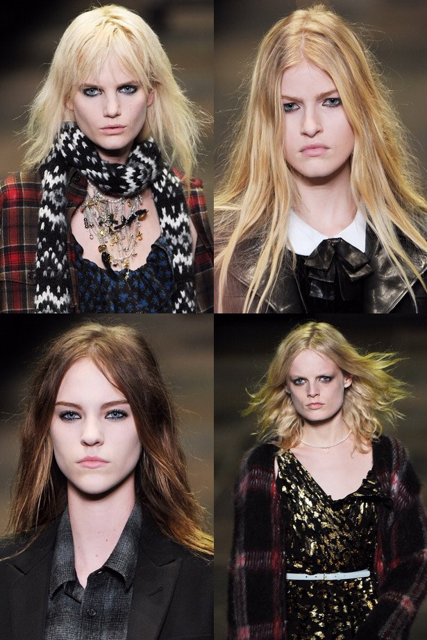 <strong>Smoky stare</strong><br> Lived-in makeup is all the rage. The trick is not to care. Draw it on and smudge it around for that Winona Ryder cool factor. <br> <em>Runway: Saint Laurent Paris AW13-14</em>