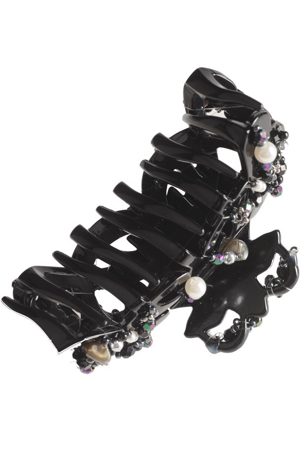 <strong>Take flight accessories</strong><br> Remember the humble butterfly clips you attached to all of your head? Of course you do… Hair accessories are still all that but the new version is all-grown-up. <br> <em>Jewelled claw clip, $9.95, Revlon, i-glamour.com</em>
