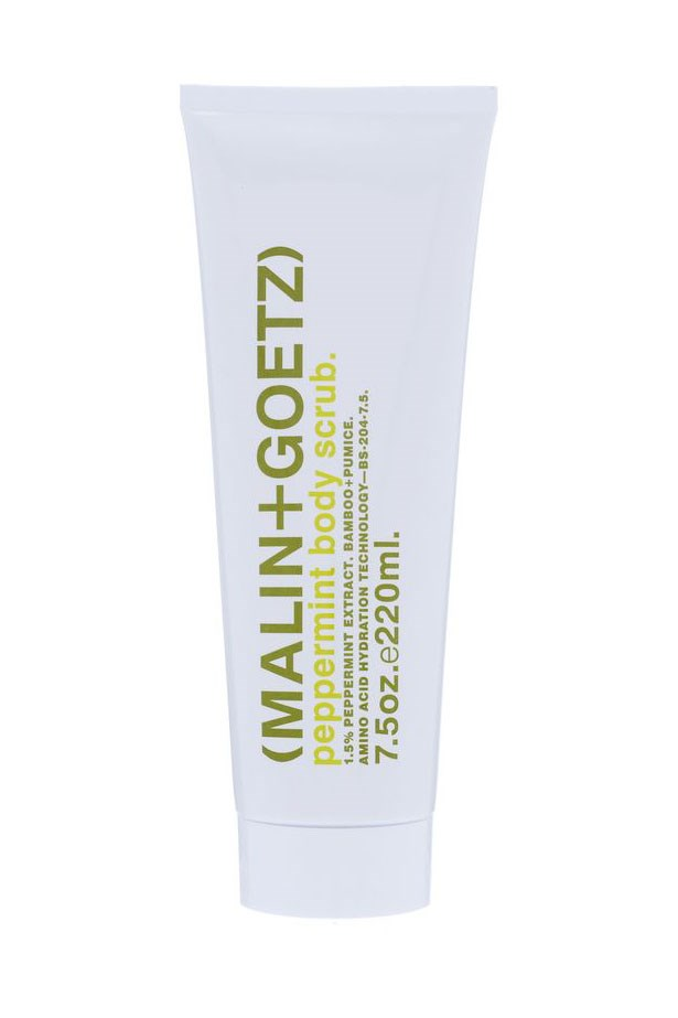 "Share with your man: A unisex scrub that cleanses and clarifies skin with cooling peppermint extract. Peppermint Body Scrub, $45, Malin+Goetz, <a href=""http://www.meccacosmetica.com.au"">meccacosmetica.com.au</a>"