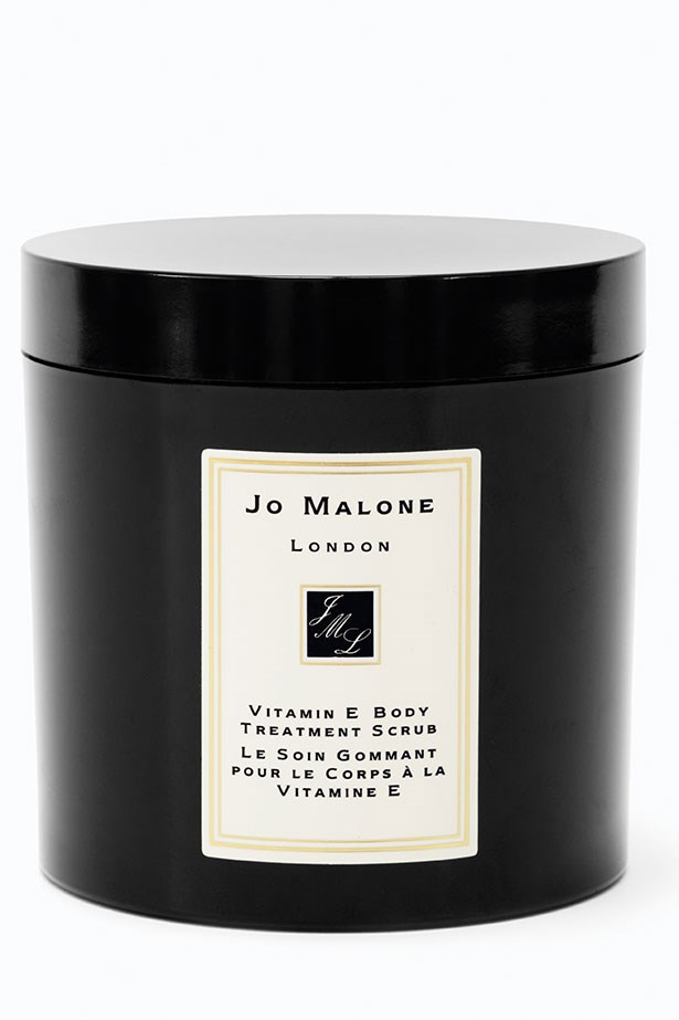 "Extra luxe: An all-over softener combining salt and vitamin E to revitalise skin. Vitamin E Body Treatment Scrub, $175, Jo Malone, <a href=""http://www.jomalone.com.au"">jomalone.com.au</a>"