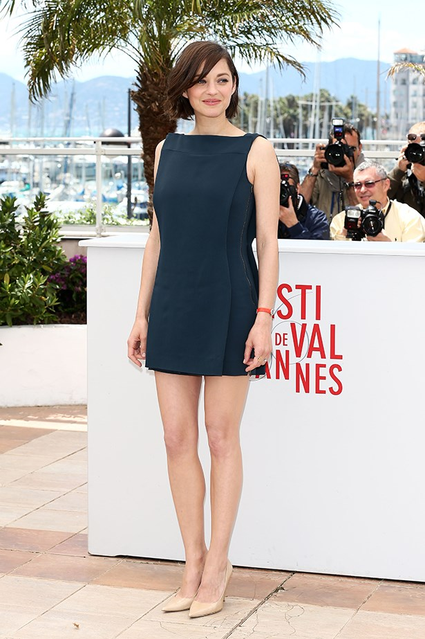 Marion Cotillard's mini shift will be everywhere this summer, so start exfoliating now.