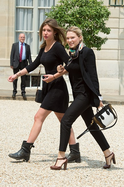Adèle Exarchopoulos and Léa Seydoux Black. It's the new black.
