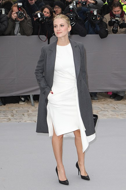 Melanie Laurent Sometime it's just about the styling. A hand in the pocket relaxes the most polished look.