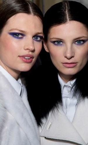 Blue eyes runway trend