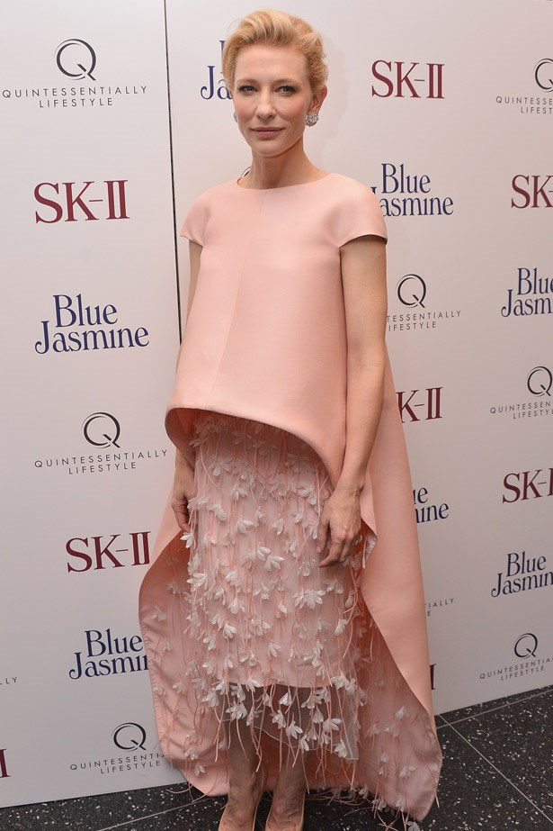 Cate Blanchett experimented with proportions in this Balenciaga number but opted for a tried-and-tested tone.