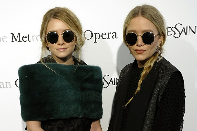 Mary-Kate and Ashley Olsen are diehard sunglass fans and it looks like they've added round frames to their huge collection.