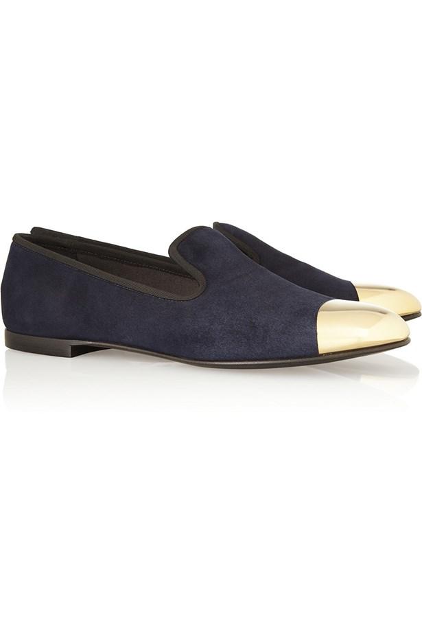 "Loafers, $658, Giuseppe Zanotti, <a href=""http://www.net-a-porter.com"">net-a-porter.com</a>"