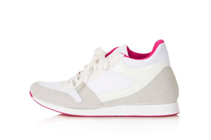 """Sneakers, $65, Topshop, <a href=""""http://www.topshop.com"""">topshop.com</a>"""