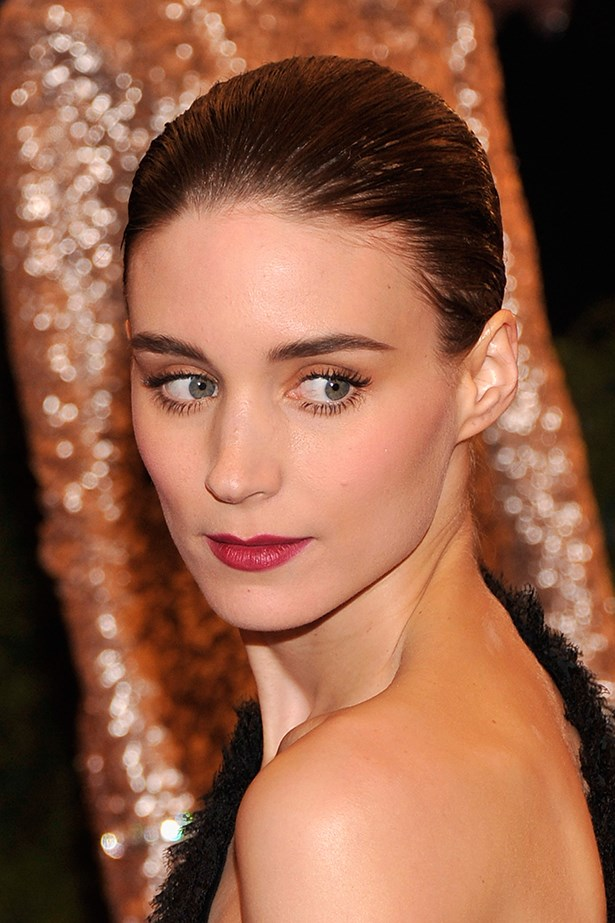 On the red carpet at 2012's Costume Institute Gala at the Metropolitan Museum of Art in New York, Mara opted for a pulled-back 'do and statement lips.