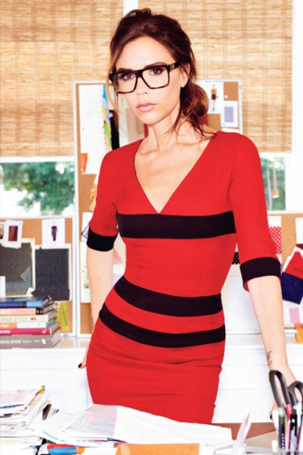 Victoria Beckham with glasses