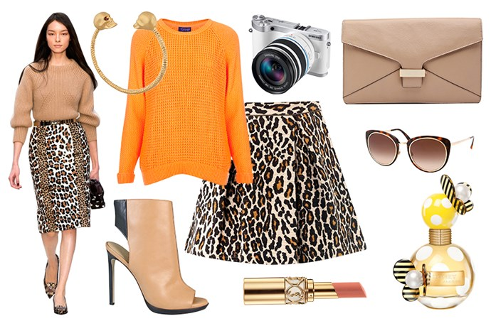 The printed skirt: day look